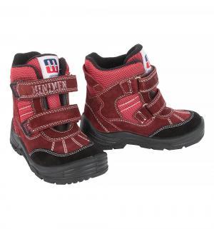 Ботинки , цвет: красный Minimen