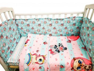 Комплект в кроватку  Малыши Совушки (6 предметов) Сонная сказка