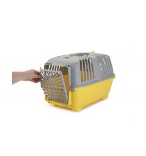 Переноска  для собак Pratiko, цвет: серо-желтый, 48*31*33см Beeztees