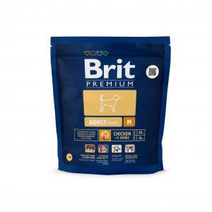 Сухой корм  Premium для взрослых собак средних пород, курица, 1кг Brit