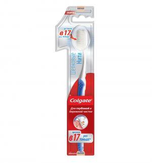 Зубная щетка  Шелковые нити, с 14 лет, цвет: белый/синий Colgate