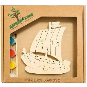 Развивающий пазл Кораблик Деревяшкино