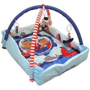Развивающий коврик  Мишка на волнах с бортиками Baby Mix