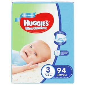 Подгузники  Ultra Comfort 3 для мальчиков (5-9 кг) 94 шт. Huggies