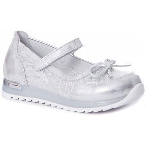 Туфли  для девочки Minimen. Цвет: серебряный