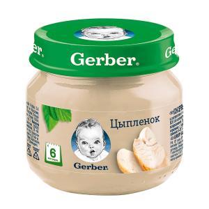 Пюре  цыпленок, с 6 месяцев, 80 г Gerber