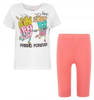 Комплект футболка/капри , цвет: бежевый Silversun