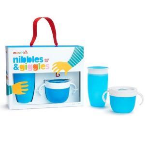 Набор посуды  поильник-непроливайка MIRACLE 360° 296 мл и контейнер Поймай печенье Munchkin