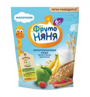Каша  молочная мультизлаковая яблоко-банан-земляника с 6 месяцев 200 г 1 шт ФрутоНяня
