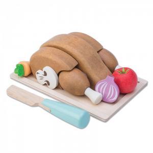 Деревянная игрушка  Игрушечная еда Жареная курочка с овощами LeToyVan