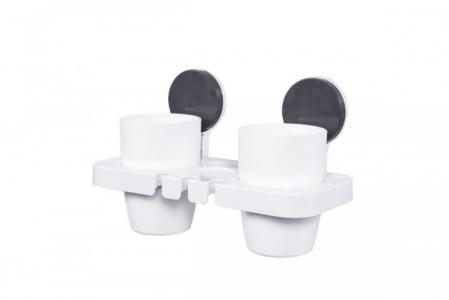Стаканы для зубных щеток и пасты на липучке Bradex