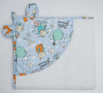 Полотенце с уголком Cute love Маленький принц 90х90 см AmaroBaby