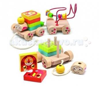 Деревянная игрушка  Паровозик Чух-Чух игровой набор Бомик