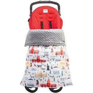Одеяло-накидка на ноги в коляску , цвет Москва Mammie. Цвет: разноцветный