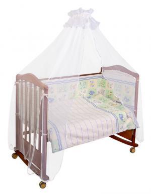 Бортик в кроватку  Считалочка, цвет: салатовый Сонный гномик