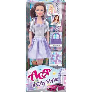 Кукла  Стиль большого города Ася, 28 см Toys Lab. Цвет: лиловый