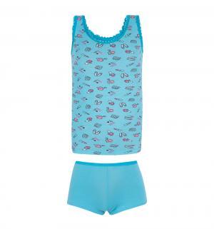 Комплект майка/трусы , цвет: бирюзовый Tiger baby & kids