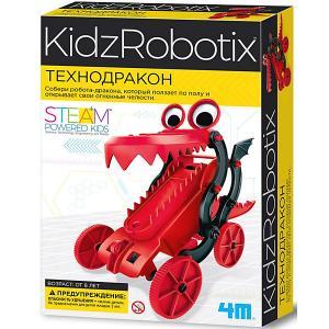 Набор для робототехники  KidxRobotix Технодракон 4M. Цвет: разноцветный