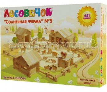 Конструктор  Солнечная ферма №5 (451 детали) Лесовичок