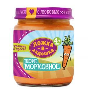 Пюре  в баночке морковь с 4 месяцев, 100 г, 1 шт Ложка ладошке