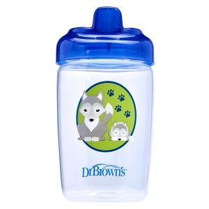 Чашка-поильник Dr.Browns с твердым носиком Волчонок, 12 месяцев, цвет: синий Dr.Brown's