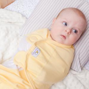 Пеленка SwaddleFun XL, цвет: желтый Pecorella