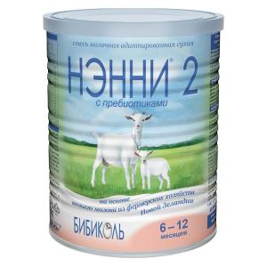 Молочная смесь  2 6-12 месяцев, 400 г Нэнни