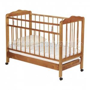 Детская кроватка  Женечка-2 колесо с ящиком Russia
