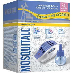Электрофумигатор Mosquitall Нежная защита с жидкостью от комаров 30 ночей, мл для детей