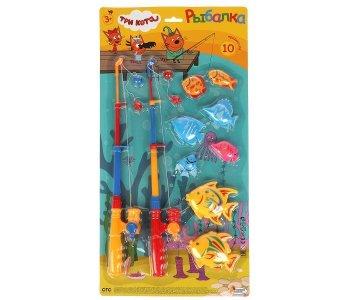 Игра рыбалка Три Кота магниты Играем вместе