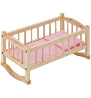 Набор мебели для кукол  Кроватка-люлька розовый текстиль Paremo