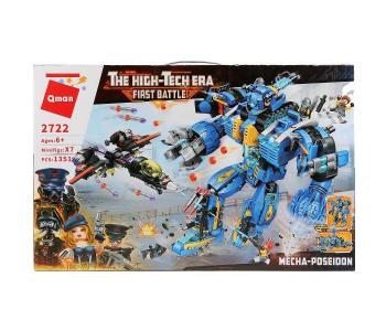 Конструктор  Робот с кораблем и фигурками (1414 деталей) Enlighten Brick