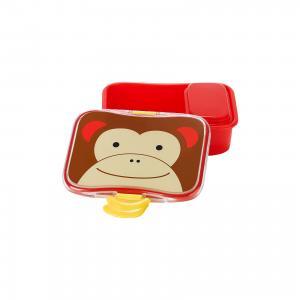Набор контейнеров для завтрака Обезьяна, Skip Hop. Цвет: красный/коричневый