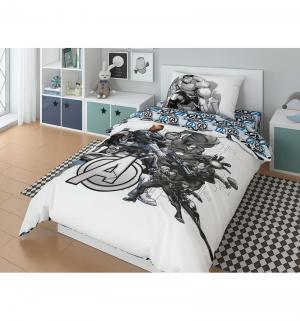 Комплект постельного белья  Marvel Avengers S.H.I.E.L.D., цвет: белый/серый 3 предмета Нордтекс