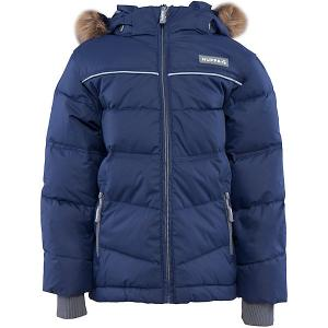 Куртка  Moody для мальчика Huppa. Цвет: синий