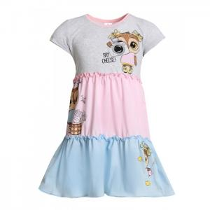 Платье для девочки с шелкографией Азалия-1 Ивашка