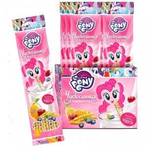 Драже  со вкусом фруктов и злаков в соломинке для молока, 30 г My Little Pony
