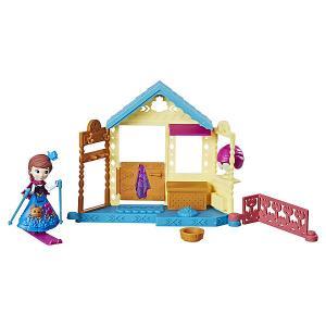 Игровой набор с мини-куклой Disney Princess Холодное сердце Королевские спальни Анна со спа салоном Hasbro