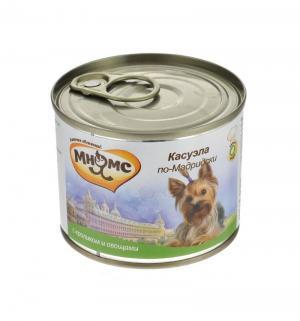 Влажный корм  для взрослых собак, касуэла по-мадридски (кролик/овощи), 200г Мнямс