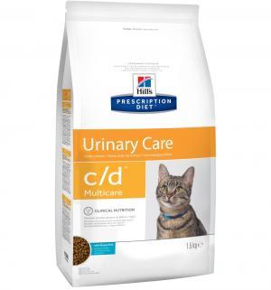 Сухой диетический корм Hills Prescription Diet c/d для взрослых кошек при мочекаменной болезни, рыба, 1.5кг Hill's