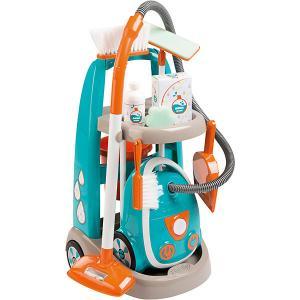 Тележка для уборки с пылесосом Smoby. Цвет: синий/оранжевый