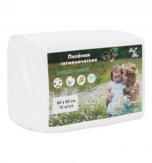 Пеленки  60х60 см, 10 шт, цвет: белый Minimax