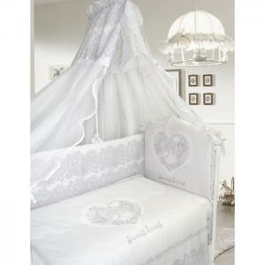 Комплект в кроватку  Ажурный без вышивки (7 предметов) Labeille