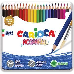 Набор цветных карандашей  Acquarell, 24 матовых цвета Carioca. Цвет: белый