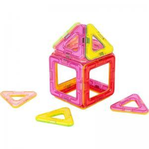Магнитный конструктор  Магический магнит, розовый/красный Tongde