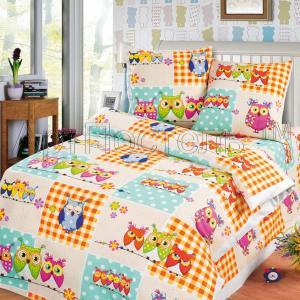 Комплект постельного белья  Соня, цвет: оранжевый/белый 4 предмета Артпостель