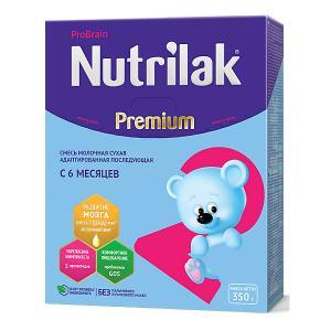 Молочная смесь  Premium 2, с 6 мес, 350 г Nutrilak