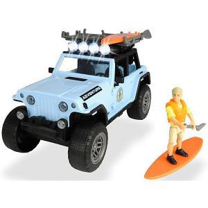 Игровой набор серфера  Jeepster Commando PlayLife, 22 см Dickie Toys. Цвет: разноцветный