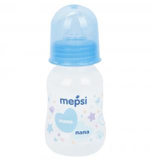 Бутылочка  противоколиковая полипропилен с рождения, 125 мл, цвет: голубой Mepsi