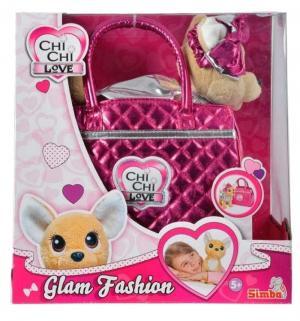 Мягкая игрушка  Гламур Собачка с бантом 20 см Chi-Chi Love